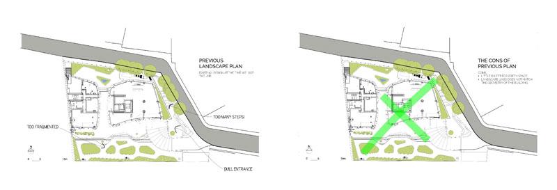 Previous landscape plan